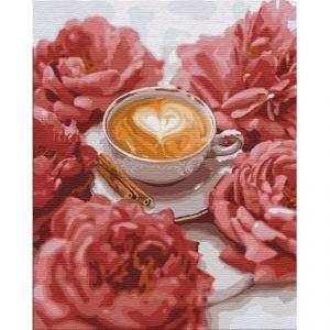Фото Картины на холсте по номерам, Букеты, Цветы, Натюрморты Картина по номерам в коробке Идейка Счастливый момент 50х40см (KH 2951)