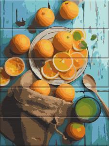 Фото  ASW 119 Апельсины Картина по номерам на дереве 30х40 см
