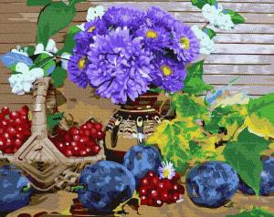 Фото Картины на холсте по номерам, Букеты, Цветы, Натюрморты Картина по номерам в коробке Paintboy Богатства осени 40х50см (KGX 32608)