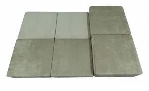 Фото  Пуф-кровать поролоновый бескаркасный раскладной МОДУЛЬ 1,0х1,0х0,4м