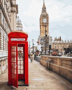 Фото Картины на холсте по номерам, Городской пейзаж Картина по номерам без коробки Paintboy Символы Лондона 40х50см (GX 26716)