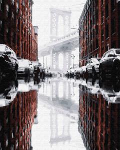 Фото Картины на холсте по номерам, Городской пейзаж Картина по номерам без коробки Paintboy Город после дождя 40х50см (GX 28878)