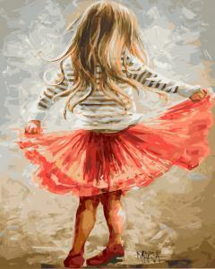 Фото Картины на холсте по номерам, Дети на картине Картина по номерам в коробке Paintboy Маленькая кокетка 40х50см (KGX 9256)
