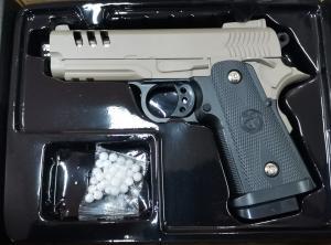Фото Игрушечное Оружие, Стреляет пластиковыми 6мм  пульками, Металлическое и комбинированное (металл + пластик) оружие Детский игрушечный пистолет металл-пластик VIGOR  V15