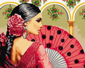 Фото Картины на холсте по номерам, Романтические картины. Люди Картина по номерам в коробке Paintboy Кармен 40х50см (KGX 24095)