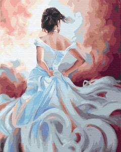 Фото Картины на холсте по номерам, Романтические картины. Люди Картина по номерам в коробке Paintboy Дама ветров 40х50см (KGX 34007)