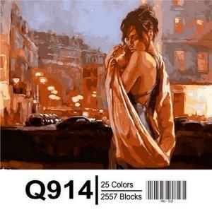 Фото Картины на холсте по номерам, Романтические картины. Люди Картина по номерам в коробке Mariposa Объятия ночного города 40х50см (Q914)