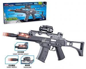 Фото Игрушечное Оружие, Со звуковыми и световыми эффектами Автомат LD017D  звук, свет, движение ствола