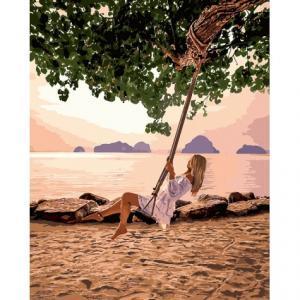 Фото Картины на холсте по номерам, Романтические картины. Люди Картина по номерам  в коробке Идейка Воздушный рай 40х50см (KH 4716)