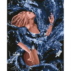 Фото Картины на холсте по номерам, Романтические картины. Люди Картина по номерам  в коробке Идейка Стихия воды 40х50см (KH 4720)