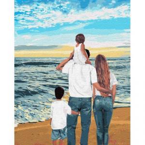 Фото Картины на холсте по номерам, Романтические картины. Люди Картина по номерам  в коробке Идейка Моя семья 40х50см (KH 4743)