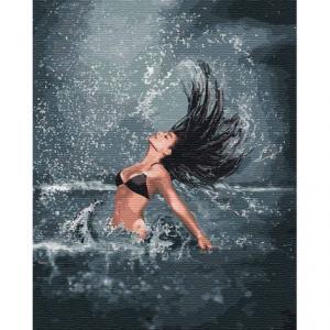 Фото Картины на холсте по номерам, Романтические картины. Люди Картина по номерам  в коробке Идейка Повелительница моря 40х50см (KH 4744)