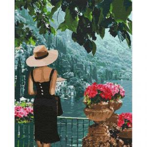 Фото Картины на холсте по номерам, Картины  в пакете (без коробки) 50х40см; 40х40см; 40х30см, Романтические картины. Люди. Картина по номерам без коробки Идейка Таинственная незнакомка 40х50см (KHO 4745)