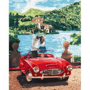 Фото Картины на холсте по номерам, Романтические картины. Люди Картина по номерам  в коробке Идейка Путешествуя вдвоем 40х50см (KH 4760)