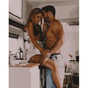 Фото Картины на холсте по номерам, Романтические картины. Люди Картина по номерам  в коробке Идейка Безумная любовь 40х50см (KH 4769)