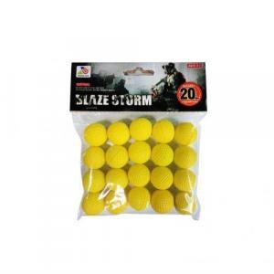 Фото Игрушечное Оружие, Стреляет поролоновыми пульками, снарядами, шариками, стрелами и т. д. ZC 05 Шары для помпового оружия желтые  20шт.