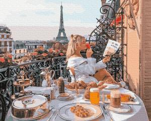 Фото Картины на холсте по номерам, Романтические картины. Люди Картина по номерам  в коробке Paintboy Утренние новости 40х50см (KGX 34586)
