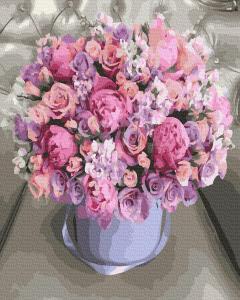 Фото Картины на холсте по номерам, Букеты, Цветы, Натюрморты Картина по номерам в коробке Paintboy Цветочная композиция 40х50см (KGX 36203)