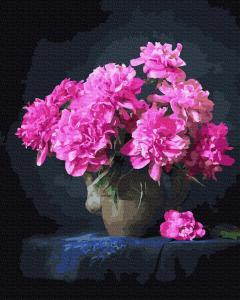 Фото Картины на холсте по номерам, Букеты, Цветы, Натюрморты Картина по номерам в коробке Paintboy Розовые пионы 40х50см (KGX 37791)
