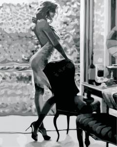 Фото Картины на холсте по номерам, Романтические картины. Люди Картина по номерам  в коробке ArtStory Стройный силуэт 40x50см (AS 0891)