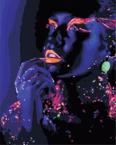 Фото Картины на холсте по номерам, Романтические картины. Люди Картина по номерам  в коробке ArtStory Космическая девушка 40x50см (AS 0892)