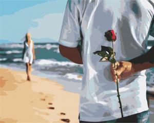 Фото Картины на холсте по номерам, Романтические картины. Люди Картина по номерам  в коробке ArtStory Свидание с любимой 40x50см (AS 0903)