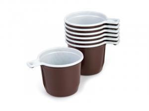 Фото Хозяйственные товары (ЦЕНЫ БЕЗ НДС), Посуда, одноразовая посуда, боксы для пищи, пакеты Чашка кофейная пластиковая 200 мл, 50 шт/уп