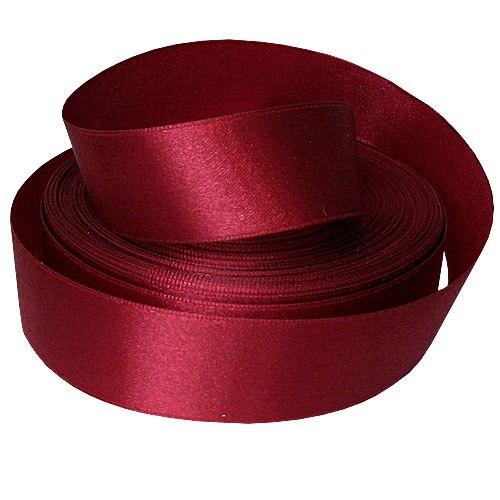 Фото Ленты, Лента атласная однотонная 2,5 см и с люрексом Лента  атласная  2,5 см.   Бордово - Красная .