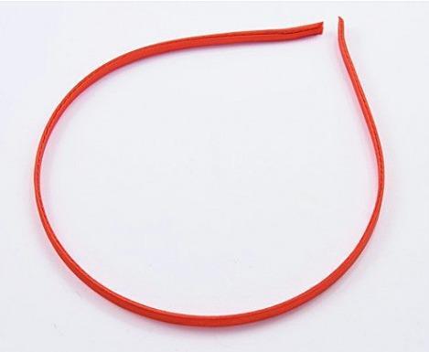 Фото Основы ,фурнитура для канзаши, Обручи Обруч металический 0,5 см. обтянут Красным атласом , прошитый из нутри.