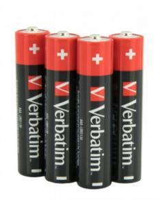 Фото Аксессуары для техники (ЦЕНЫ БЕЗ НДС), Батарейки Батарейка щелочная (alkaline) Verbatim 1,5 V LR03 (ААА) (4, 10 шт/уп, ЦЕНЫ см. подробнее0