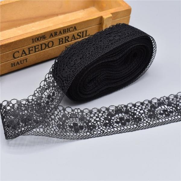 Фото Кружево ,тесьма ,сетка,резинка, Кружево капрон,жаккард,макраме Кружево чёрное 40 мм.  Вышитое  * Жаккард *  Полиэстер - хлопок .