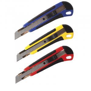 Фото Канцелярские товары (ЦЕНЫ БЕЗ НДС), Ножницы, ножи, лезвия, резаки, Ножи канцелярские, лезвия, резаки, Ножи канцелярские Нож канцелярский 18мм BG