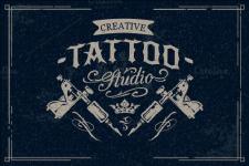 "логотип Салон-студия художественной татуировки ""Креатив-Татту"" (Creative Tattoo) в Бресте"